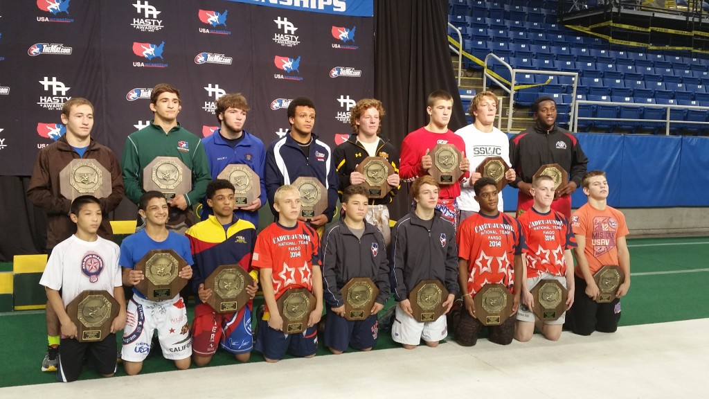 2014 Fargo Champions - Trey Meyer, top row second from left